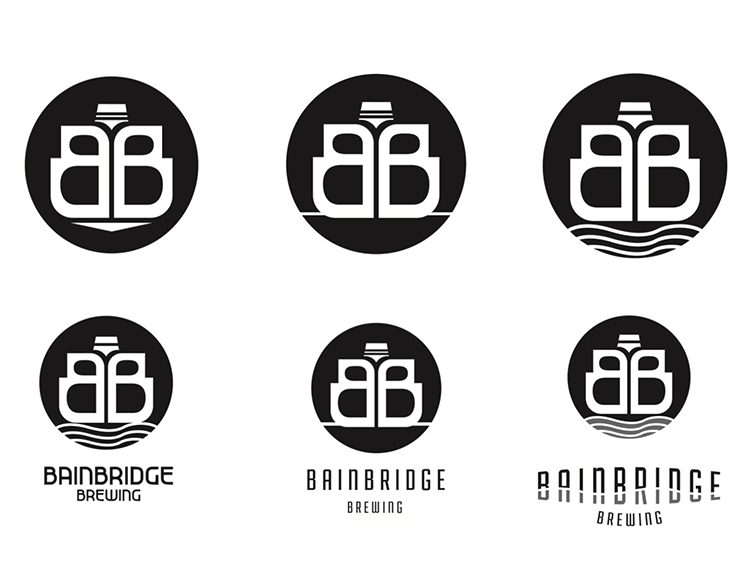 Bainbridge Brewing Logos