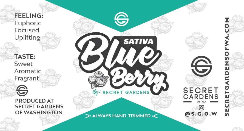 Secret Gardens Sativa Blue Berry