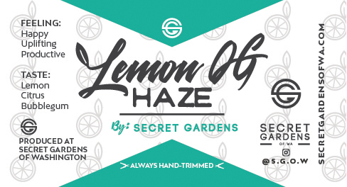 Secret Gardens Lemon OG Haze
