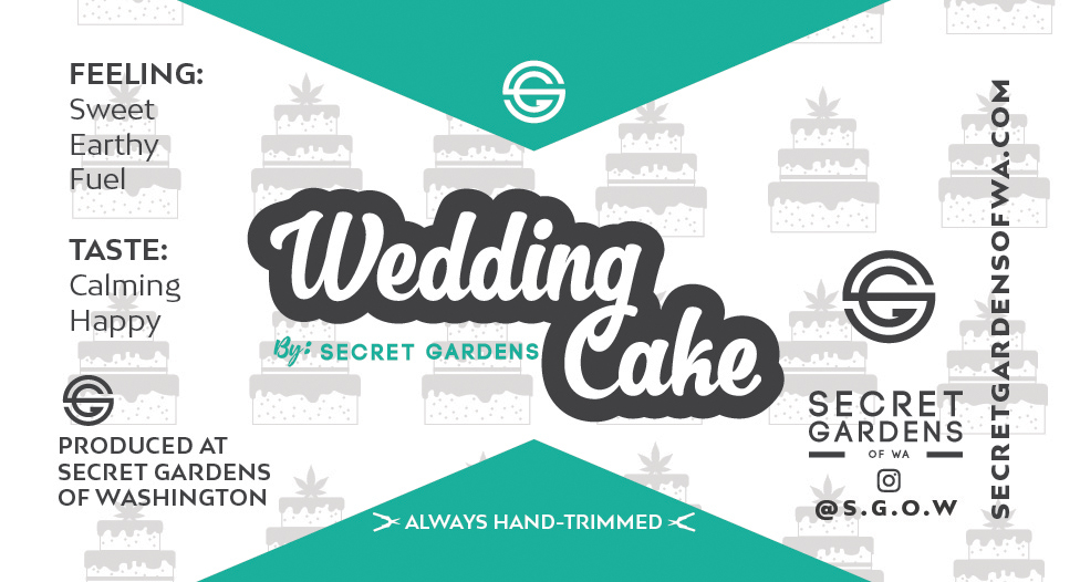 Secret Gardens Wedding Cake