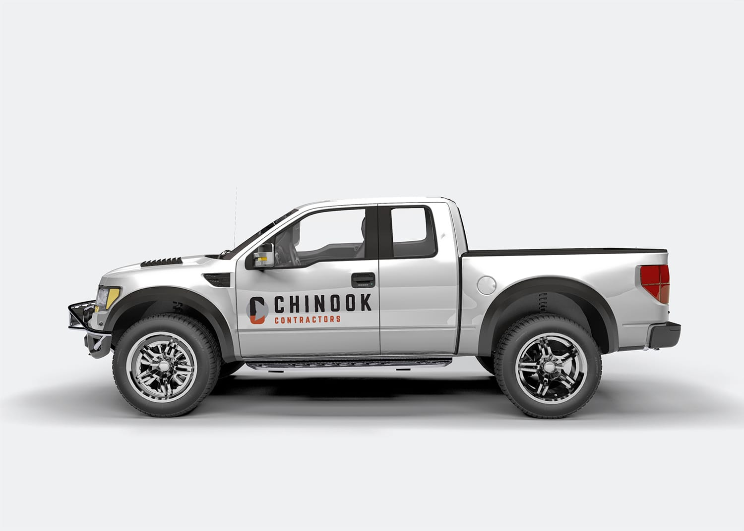Chinook Contractors Truck Graphic