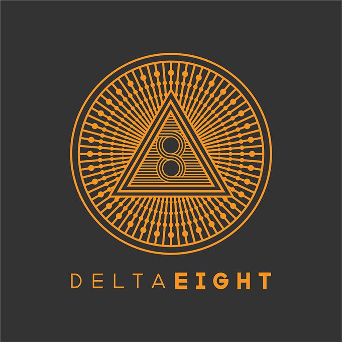 Delta 8 Logo Gold