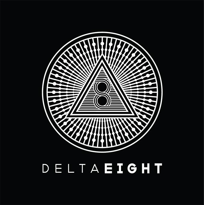 Delta 8 Logo White