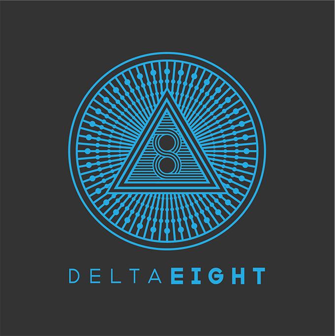 Delta 8 Logo Blue