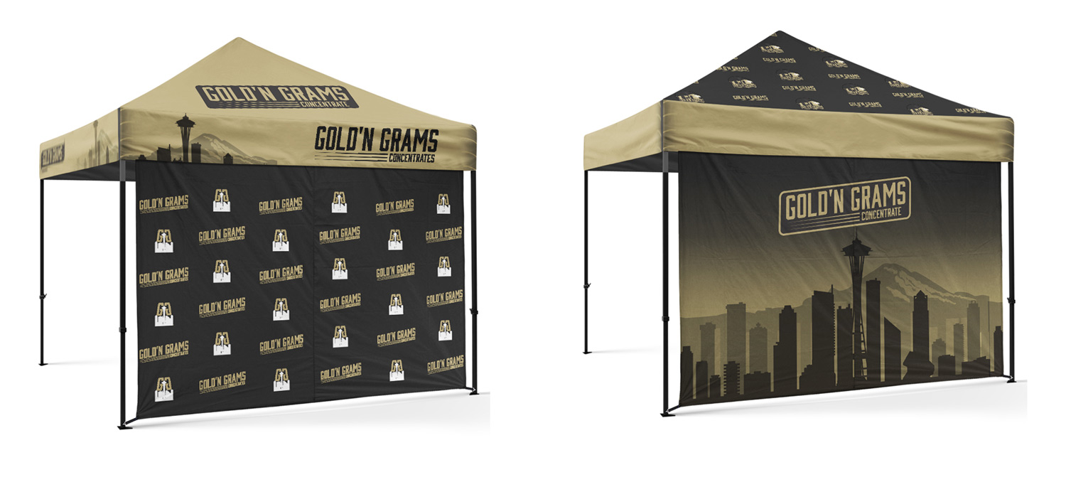 Gold'n Grams Tent